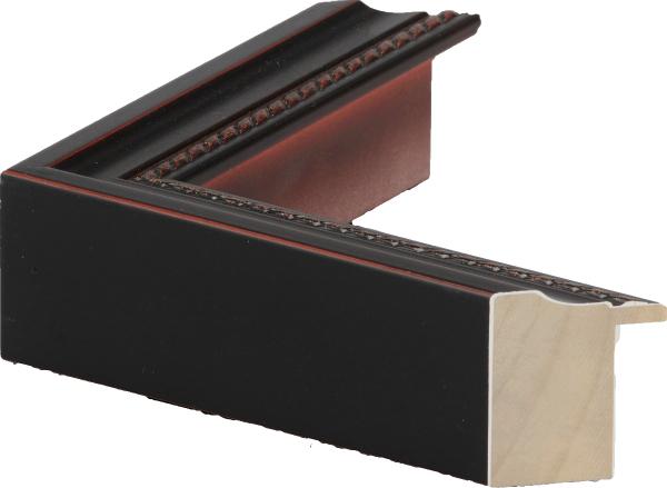 額縁 油絵額縁 油彩額縁 木製フレーム 仮額縁 7300 鉄黒 サイズ P15号_画像2