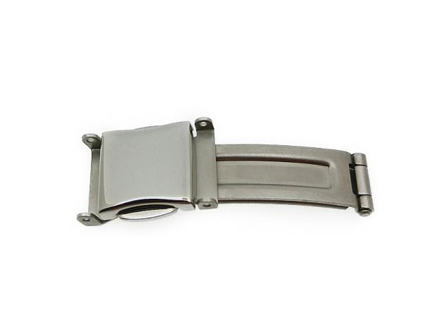金属ベルト専用 プッシュ式 三つ折金具 12mm幅対応 汎用品_画像1