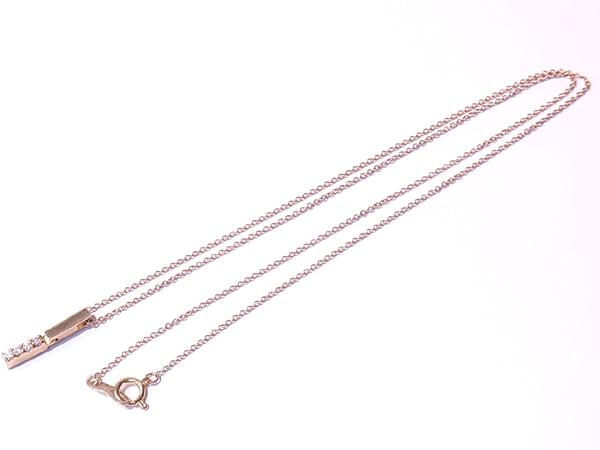 K18 デザインネックレス スタージュエリー STAR JEWELRY ダイヤトップ 4P 約40cm 超音波洗浄済み 〓_画像6