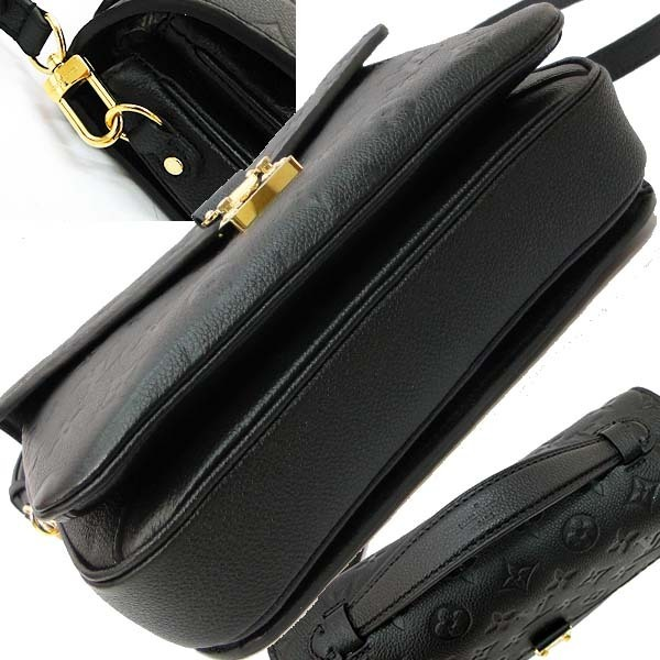 本物 美品 ルイヴィトン モノグラム アンプラント ポシェット・メティス MM M41487 2WAYバッグ ノワール 黒 ハンドバッグ ショルダーバッグ_画像5
