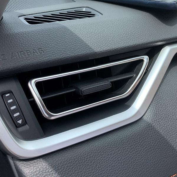 トヨタ 新型 RAV4 ラブ 2019年 エアコンダクトカバー 吹き出し口 ガーニッシュ ステンレス製 鏡面 インテリア 内装 パーツ 2pcs 新品 4282_画像2