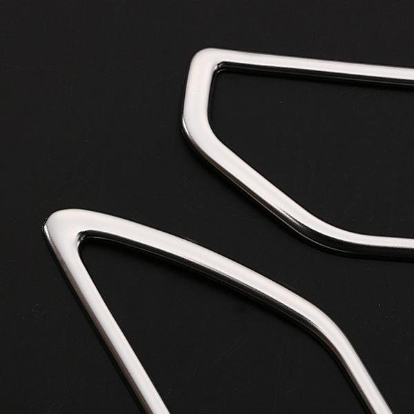 トヨタ 新型 RAV4 ラブ 2019年 エアコンダクトカバー 吹き出し口 ガーニッシュ ステンレス製 鏡面 インテリア 内装 パーツ 2pcs 新品 4282_画像3