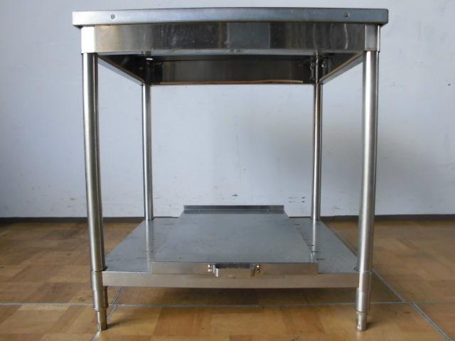 中古厨房 業務用 飯台付き作業台 調理台 W750×D600×H800mm 調整脚+10mm 飲食店 調理場_画像5