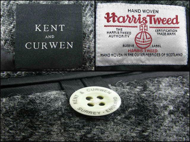 新品 KENT & CURWEN × Harris Tweed ケント&カーウェン ハリスツイード 定価6万8,040円 【日本製 貝ボタン】 ジャケット M 秋冬 ★290240_画像4