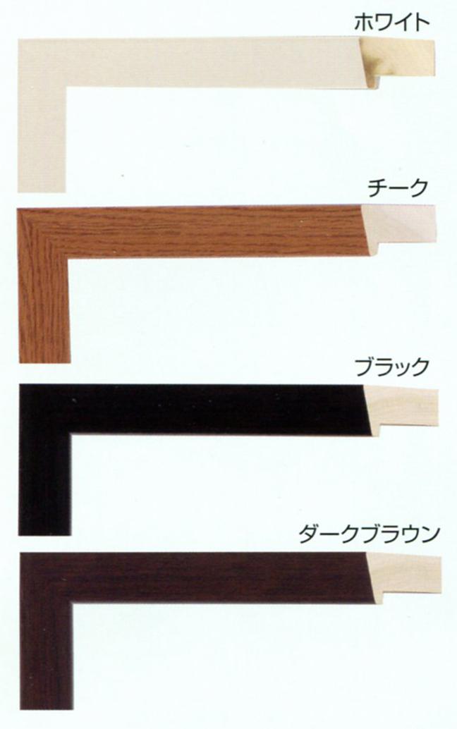 額縁 油絵額縁 油彩額縁 木製フレーム 仮縁 仮額縁 出展用木製仮縁 3485 ブラック サイズ P15号_画像3