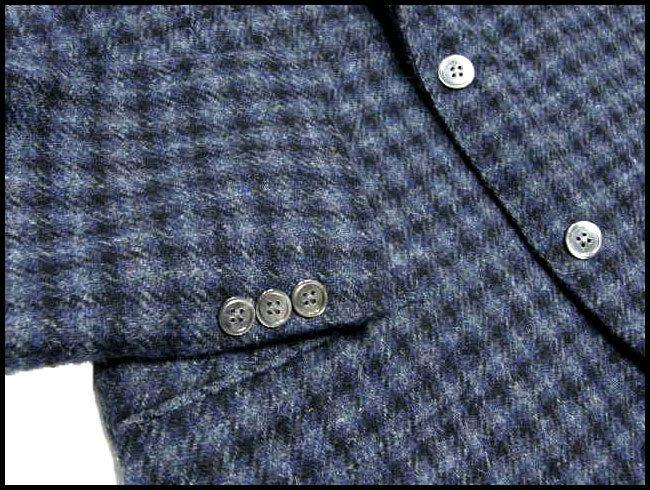 新品 KENT & CURWEN × Harris Tweed ケント&カーウェン ハリスツイード 定価6万8,040円【日本製 貝ボタン】 ジャケット LL 秋冬 ★290241_画像3