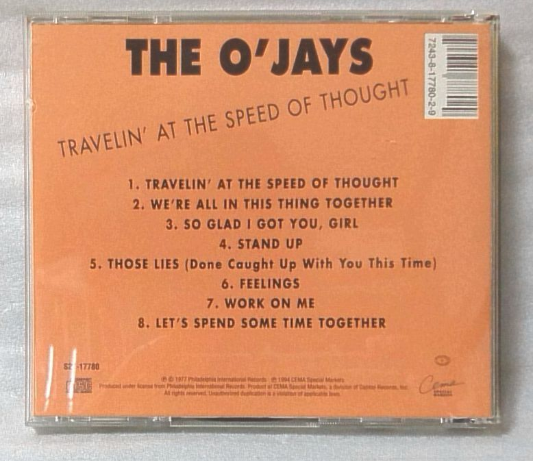 THE O'JAYS TRAVELIN AT THE SPEED OF THOUGHT / 1994年 再発盤 US盤CD [4198CDN_画像2