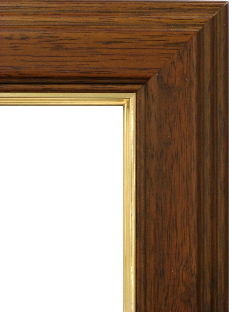 賞状額縁 フレーム 許可証額縁 木製 魁5(5705) ブラウン 中賞サイズ B4サイズ_画像2