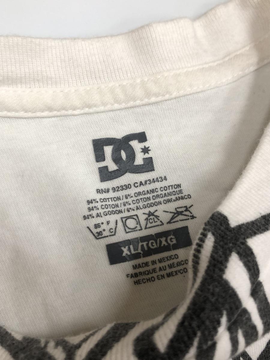 DC ディーシーDC  半袖Tシャツ サイズ XL  ホワイト スポーツウェア スケートボード  メンズ ストリート BIG_画像4