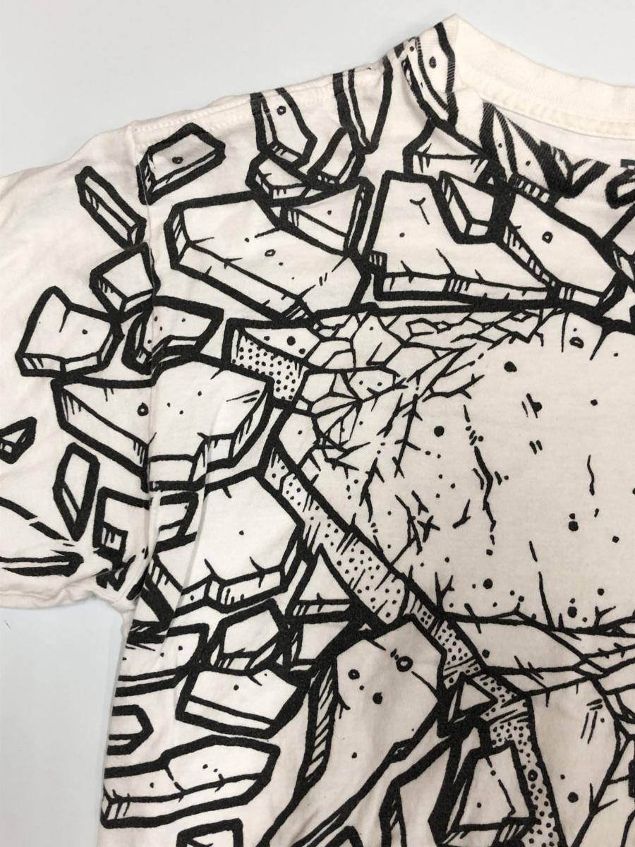 DC ディーシーDC  半袖Tシャツ サイズ XL  ホワイト スポーツウェア スケートボード  メンズ ストリート BIG_画像3