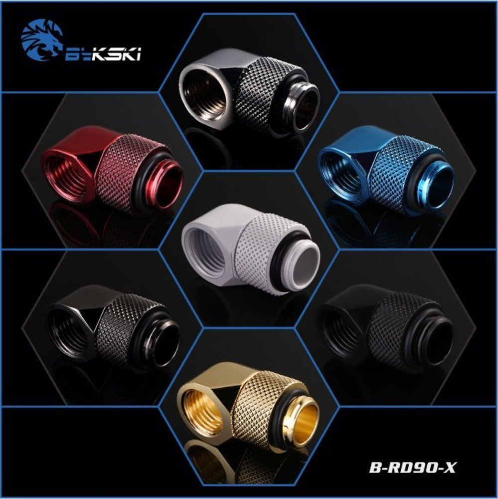 Bykski B-RD90-X 90 Degree Male to Female Rotary Revolvable Angle Fitting Adapter with G1/4 送料無料【領収発行可】_画像1