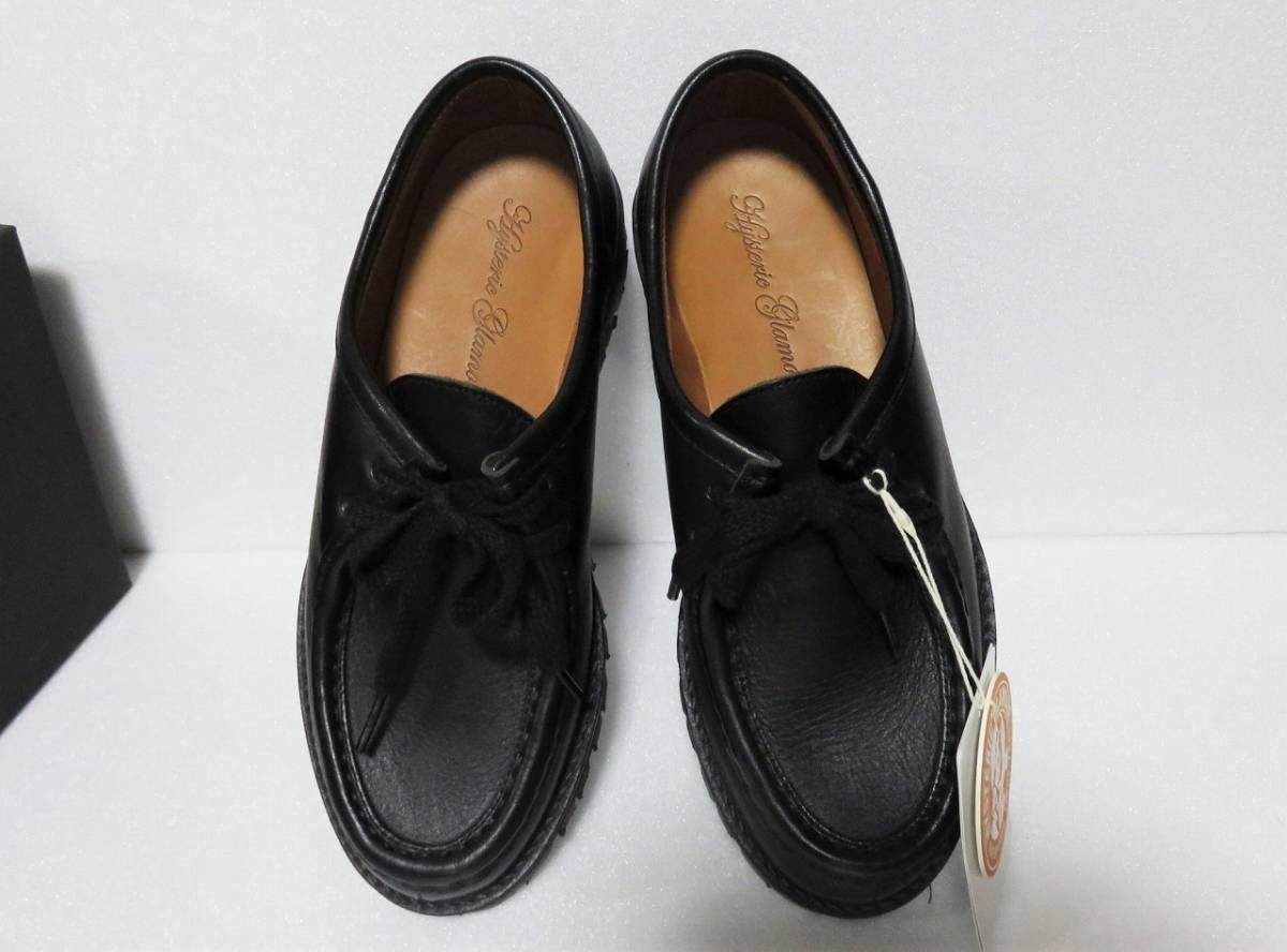 定価6万 HYSTERIC GLAMOUR チロリアン シューズ 24.5 レディース ブラック vibram 日本製 ヒステリックグラマー 靴 レザー 黒 ビブラム_画像4