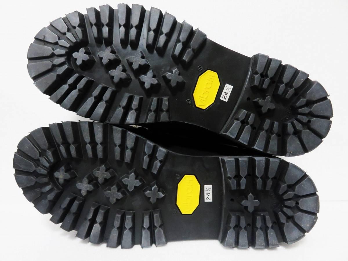 定価6万 HYSTERIC GLAMOUR チロリアン シューズ 24.5 レディース ブラック vibram 日本製 ヒステリックグラマー 靴 レザー 黒 ビブラム_画像5