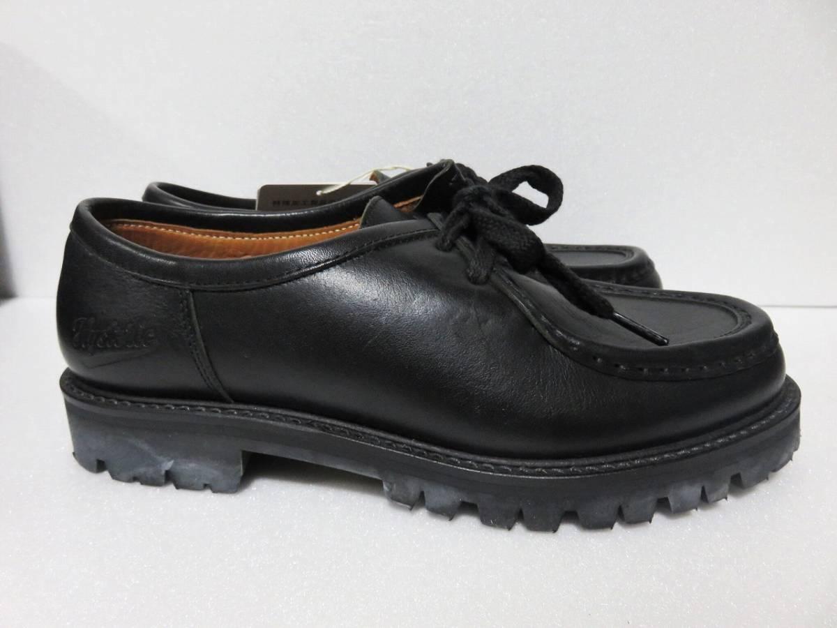 定価6万 HYSTERIC GLAMOUR チロリアン シューズ 24.5 レディース ブラック vibram 日本製 ヒステリックグラマー 靴 レザー 黒 ビブラム_画像2