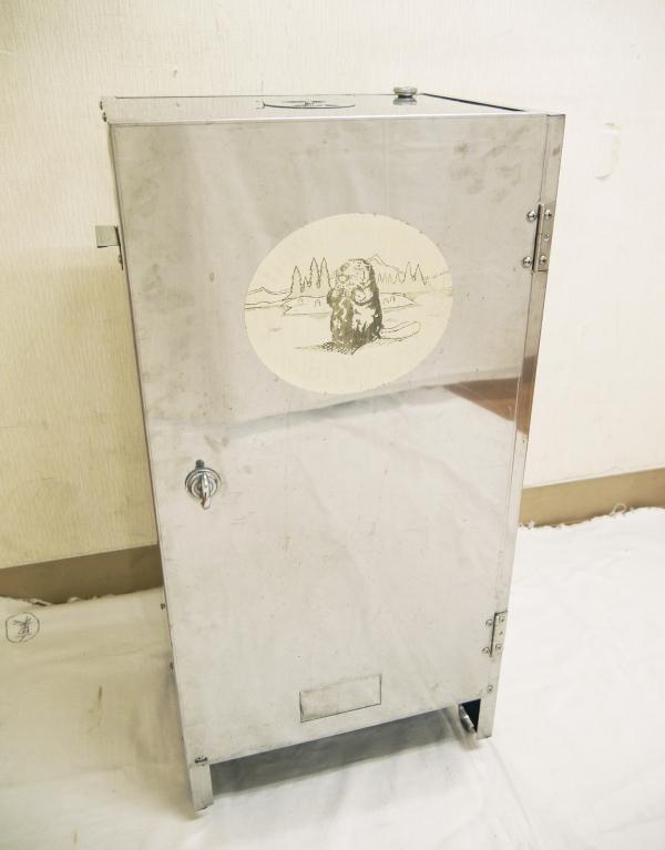 H674●業務用 BEAVER ビーバー HOME SMOKER ホームスモーカー サクラチップ2本付き 大型燻製器 温度計 空気孔付き アウトドア 進誠産業