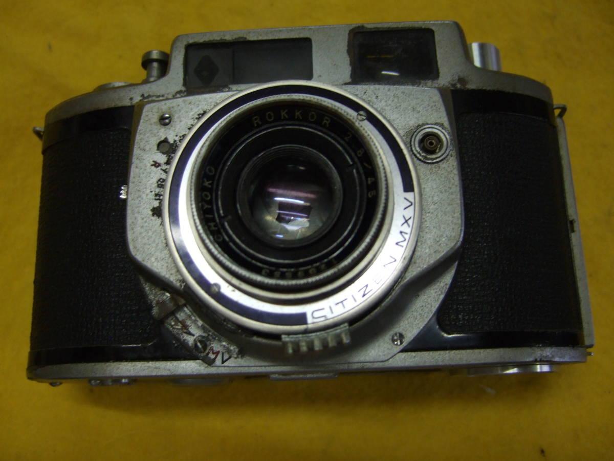 珍品 ミノルタ minolta A2 CHIYOKO ROKKOR 2.8/45 レンジファインダーフィルムカメラ _画像1