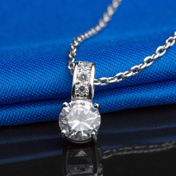 【厳選】 NEW店舗! 4Pダイヤモンド ネックレス 刻印有 ≪限定販売≫ [2ct] ▲プラチナ仕上▲_画像3