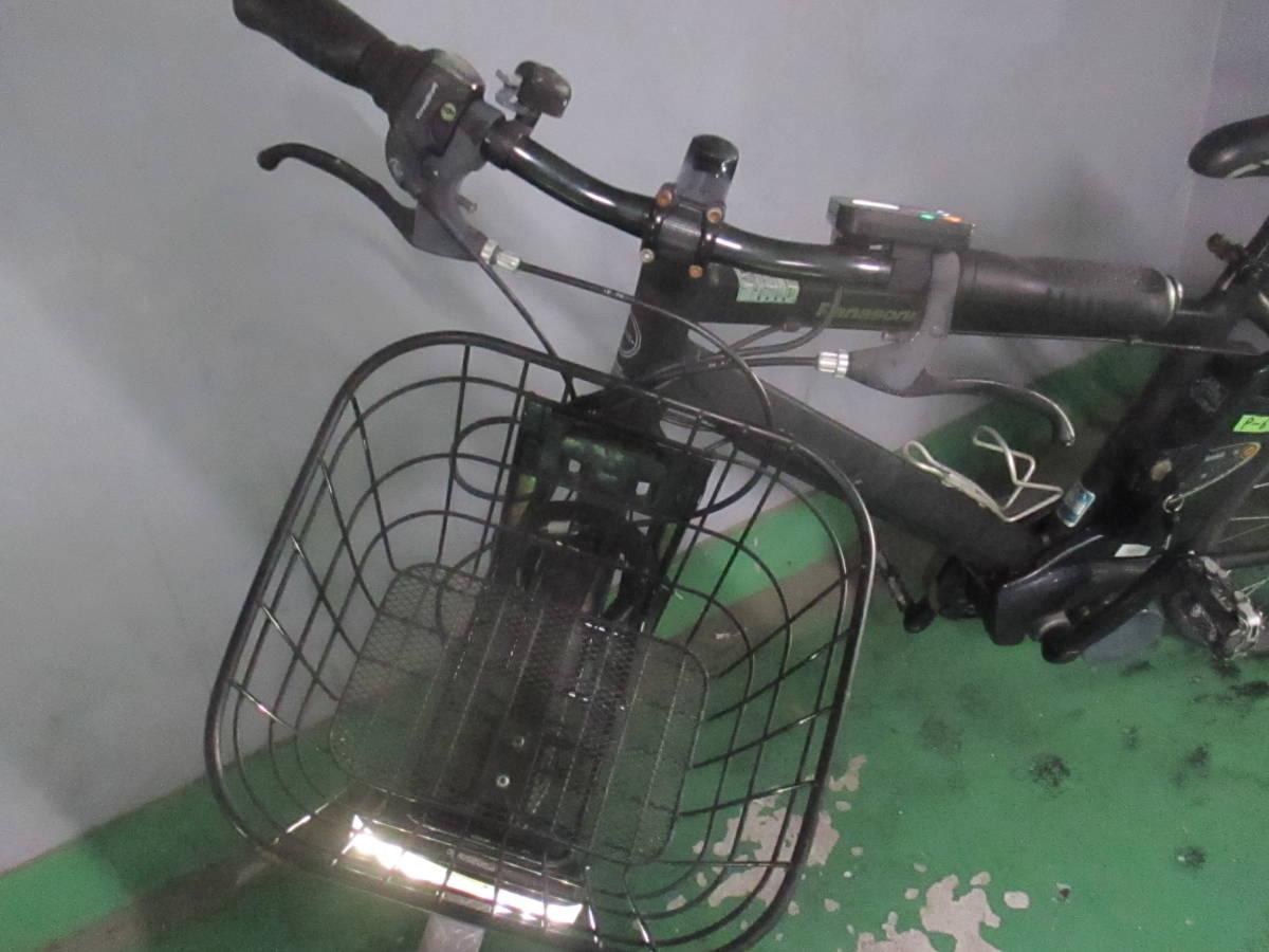 「P-6」美品★Panasonic 電動アシスト自転車 Hurryer(ハリヤ)BE-ENH444B 7段変速 26インチ バッテリー8Ah&充電器付★_画像2
