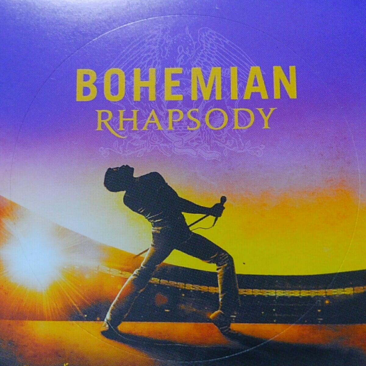 即決 映画 ボヘミアン ラプソディ シール 10枚セット 非売品 ステッカー ノベルティ グッズ クイーン QUEEN BOHEMIAN RHAPSODY 販促品 洋楽_直径6.5cmの円型(丸型)シールです。
