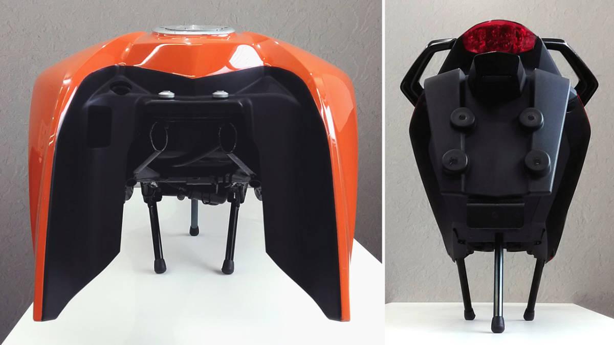 「KTM 125DUKE ( 200 duke 250 デューク 390duke ) 外装セット オブジェ?純正 中古 横浜市~ 」の画像3