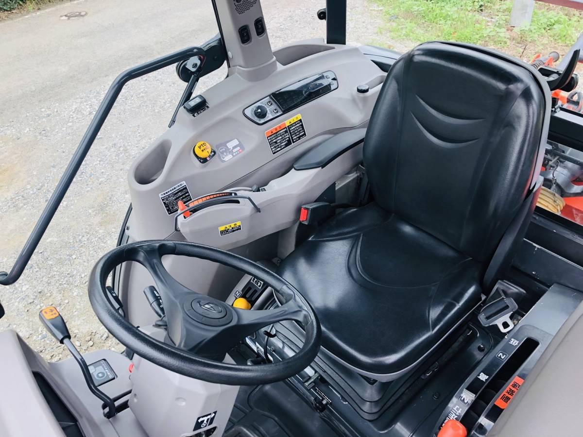 クボタ KL53ZH ハイスピード トラクター エアコンキャビン付 53馬力 純正ロータリー付 eクルーズ 最高速度 32.63 km/h_画像6