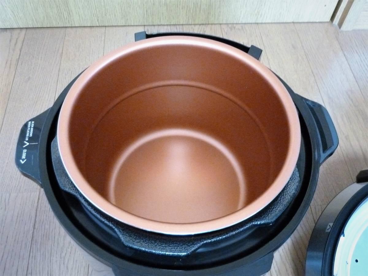 ショップジャパン 電気圧力鍋 プレッシャーキングプロ SC-30SA-JO1 箱 レシピ付き_画像5