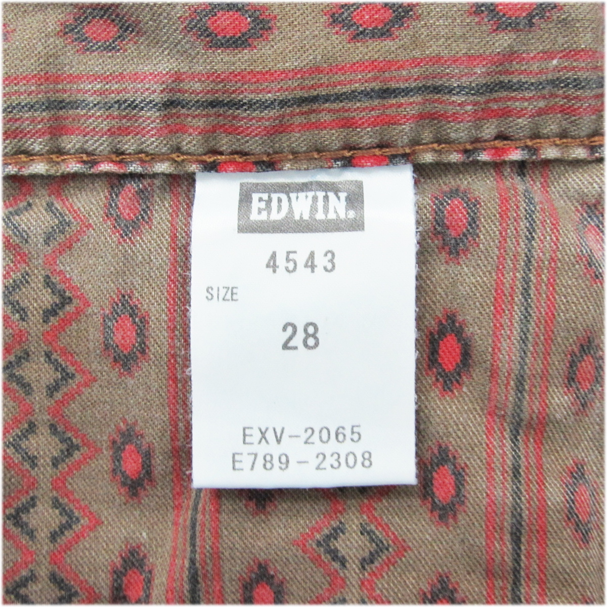 エドウィン EDWIN 4543 ネイティブ デニム ハーフパンツ W28