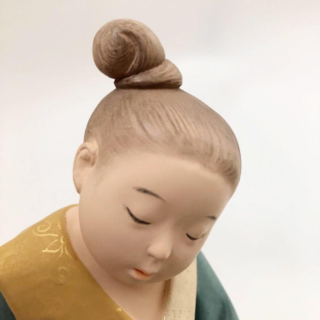 ★人気博多人形師 中村信喬作 「遥かな旅」(共箱共栞)_画像4