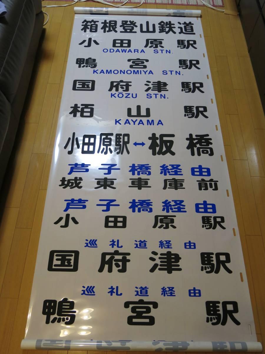 箱根登山鉄道バス 小田原営業所 後方向幕_画像7