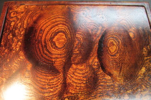 玉杢欅拭き漆表裏両入れ換え飾り台_画像1