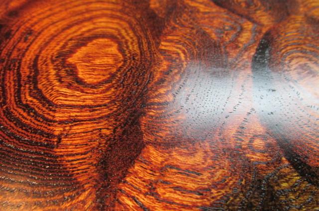 玉杢欅拭き漆表裏両入れ換え飾り台_画像3