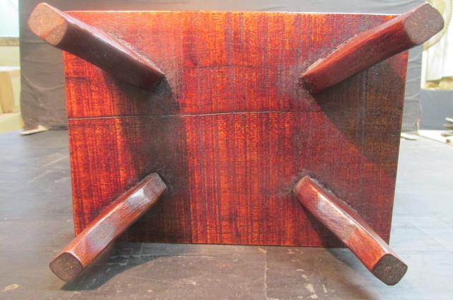 玉杢欅拭き漆表裏両入れ換え飾り台_画像6