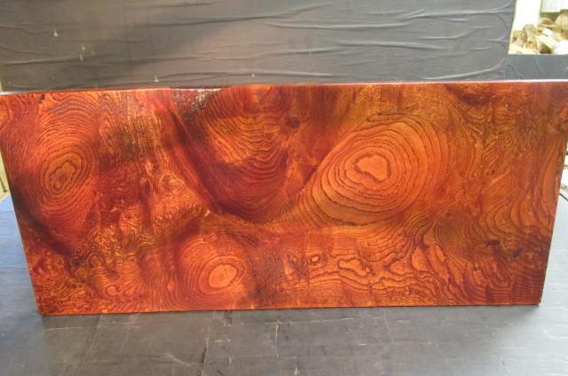 欅玉杢拭き漆飾り台_画像1