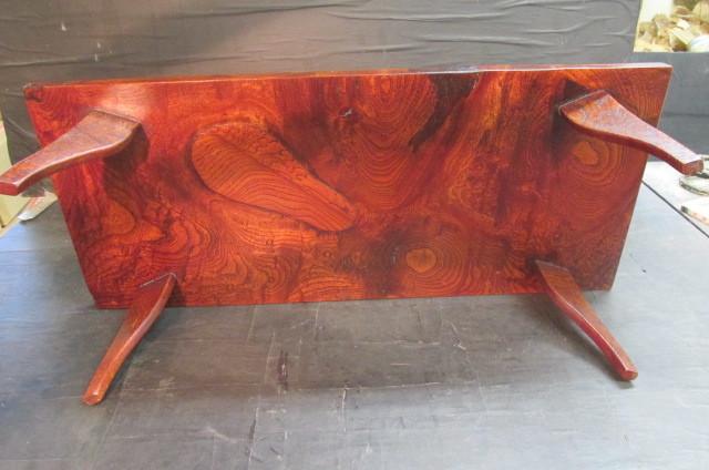欅玉杢拭き漆飾り台_画像2