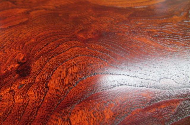欅玉杢拭き漆飾り台_画像9