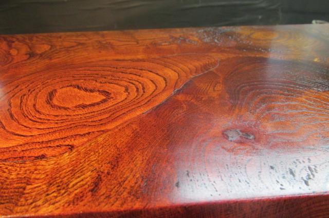 欅玉杢拭き漆飾り台_画像10