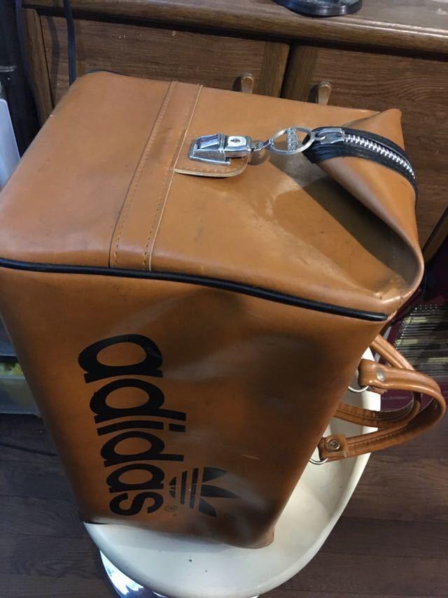 ビンテージ! アディダス ボストンバッグ 80年代 アディダスオリジナルス 旅行鞄 ジムバッグ アンティーク バッグ_画像7