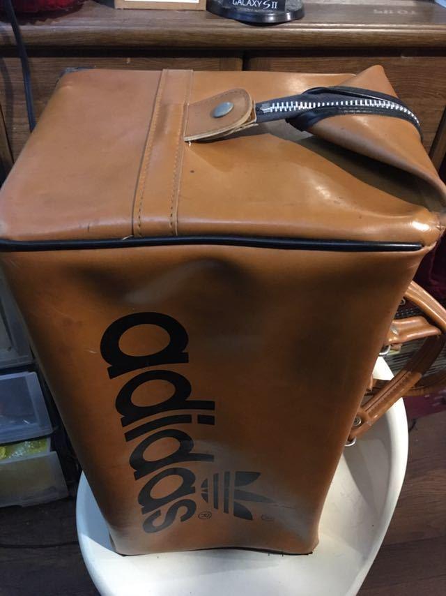 ビンテージ! アディダス ボストンバッグ 80年代 アディダスオリジナルス 旅行鞄 ジムバッグ アンティーク バッグ_画像8