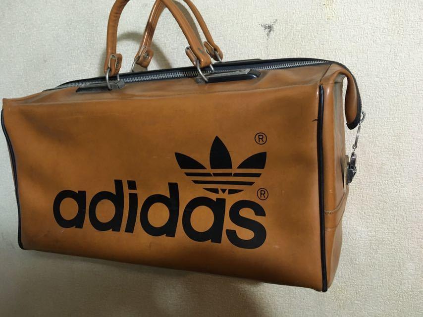 ビンテージ! アディダス ボストンバッグ 80年代 アディダスオリジナルス 旅行鞄 ジムバッグ アンティーク バッグ_画像2