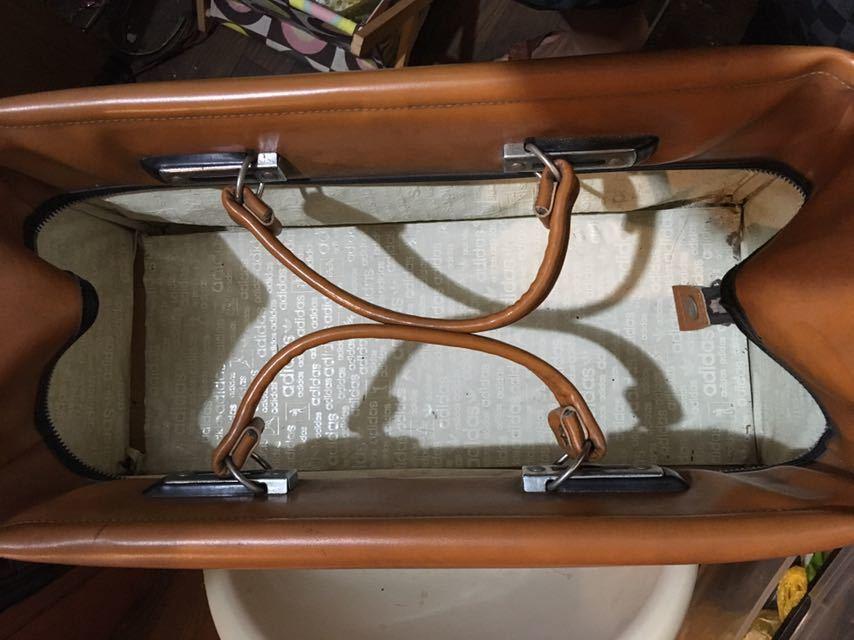 ビンテージ! アディダス ボストンバッグ 80年代 アディダスオリジナルス 旅行鞄 ジムバッグ アンティーク バッグ_画像6