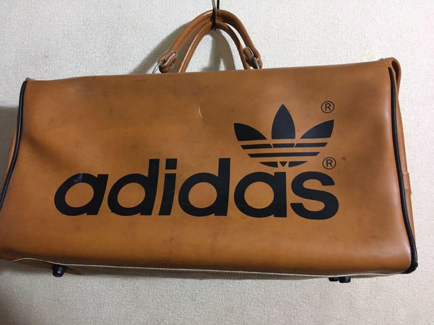 ビンテージ! アディダス ボストンバッグ 80年代 アディダスオリジナルス 旅行鞄 ジムバッグ アンティーク バッグ