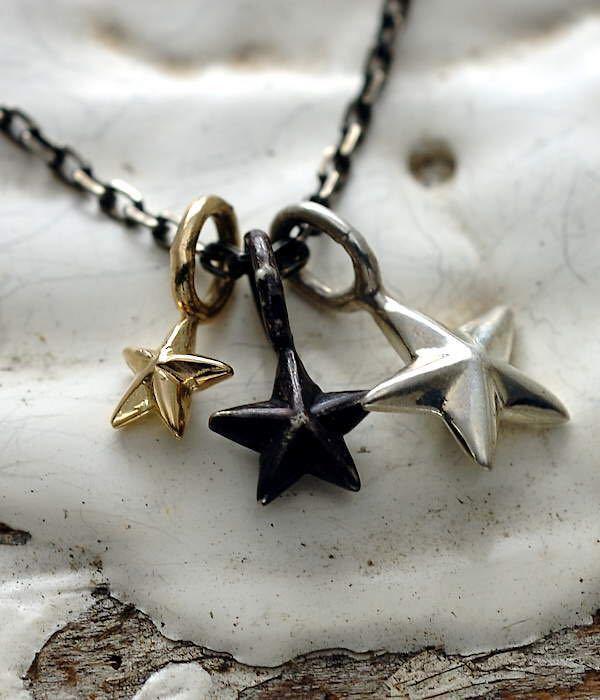 amp japan(アンプジャパン) スター ネックレス メンズ 星 silver K10イエローゴールド シルバー 925 ハンドメイド HYO-154_画像3