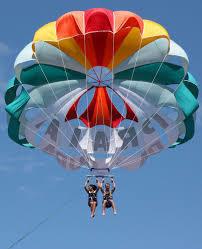 「ビーチの視線を独占!注目度200%!パラセールで空中遊覧しませんか?ジェットもOK, 2人/3人乗りもあります!」の画像2