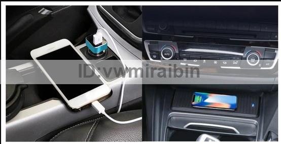 BMW 3 4シリーズF30 F31 F32 F34 F36車のチーワイヤレス充電器モジュール急速充電パネル充電プレートアクセサリーiPhone用_画像2