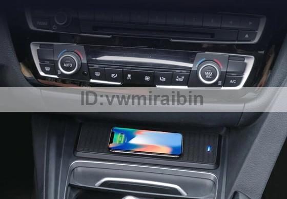 BMW 3 4シリーズF30 F31 F32 F34 F36車のチーワイヤレス充電器モジュール急速充電パネル充電プレートアクセサリーiPhone用_画像1