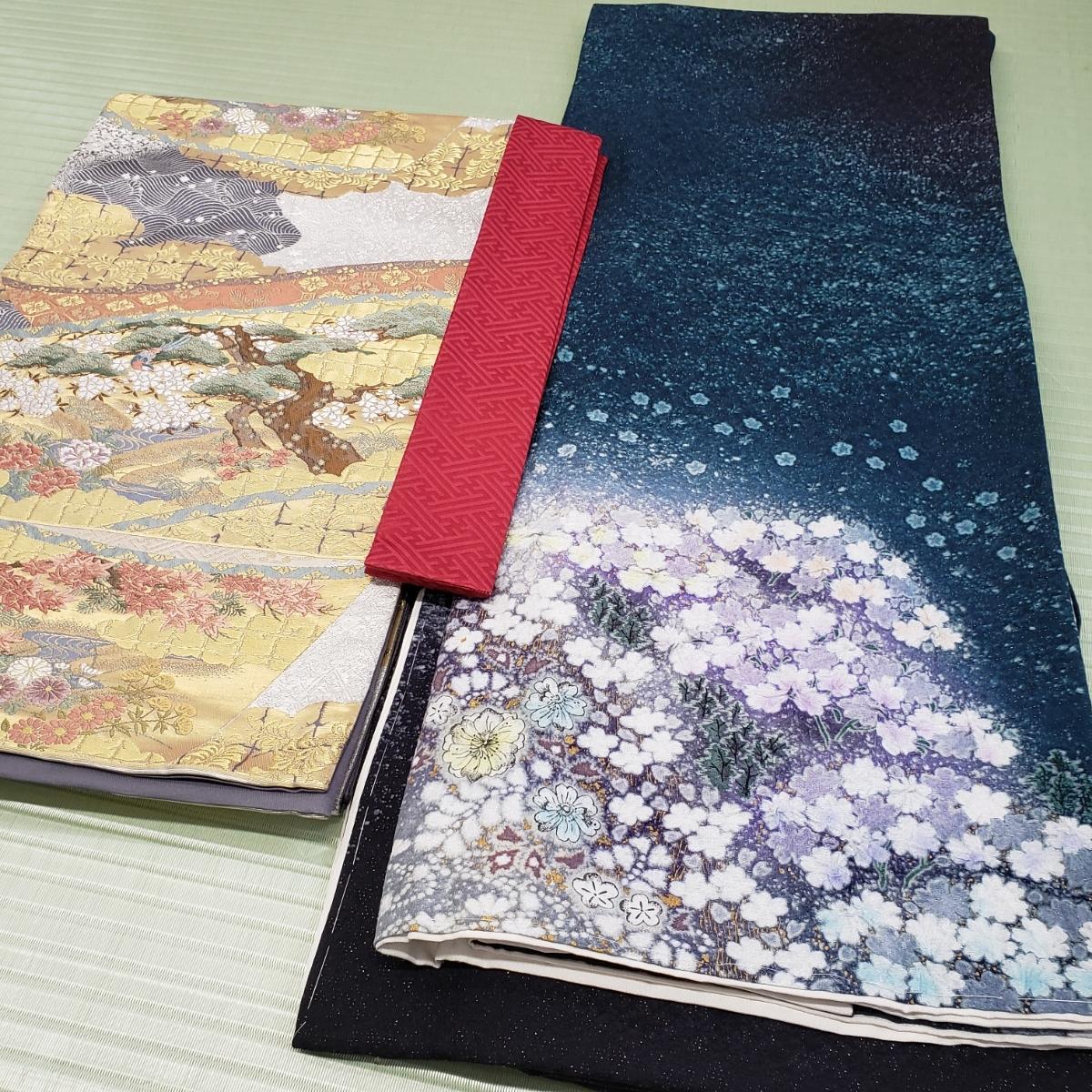 訪問着 正絹 辻ヶ花 作家物 吉野一廉 西陣 袋帯付き 躾付き未使用品_画像10