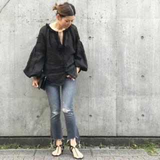 新品タグ付き☆2018SS ドゥーズィエムクラス 刺繍ブラウス 黒