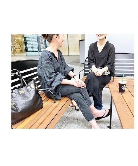 新品タグ付き☆2018SS ドゥーズィエムクラス 刺繍ブラウス 黒_画像4