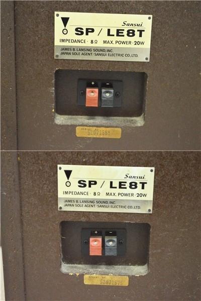 KM79●中古品●SANSUI サンスイ SP/LE8T スピーカー システム ペア オーディオ機器 音出しOK_画像10