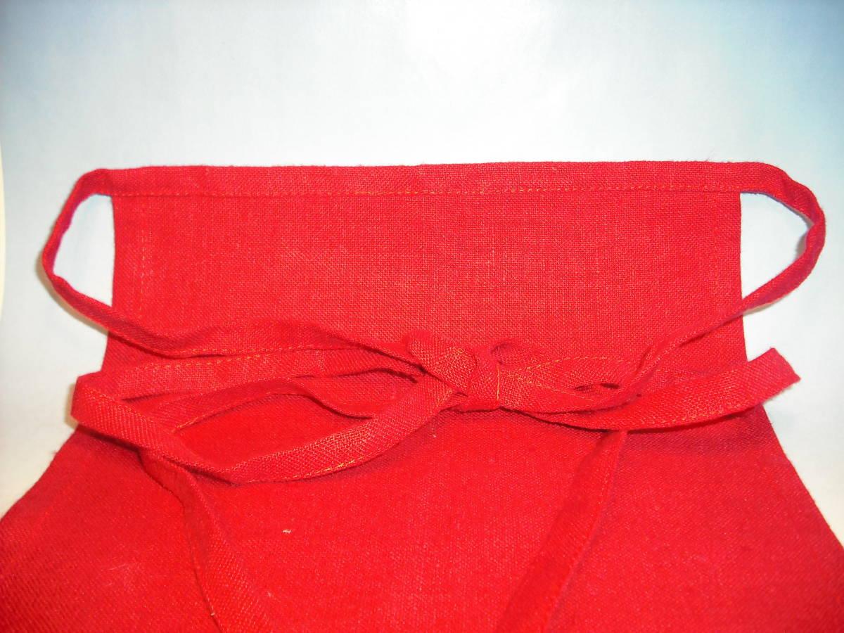 ヨーロッパ産高級ヘンプ100%で作った麻褌(薔薇染め)新品・Mサイズ_画像2